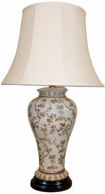 White & Brown Ceramic Table Lamp