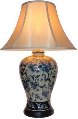 Blue and Cream Ceramic Table Lamp