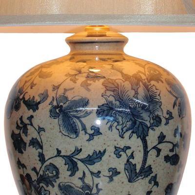 Blue and Cream Ceramic Table Lamp image 2
