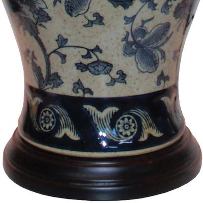 Blue and Cream Ceramic Table Lamp image 3