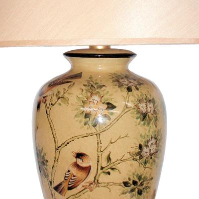 Oriental Table Lamp with Birds and Blossom image 2