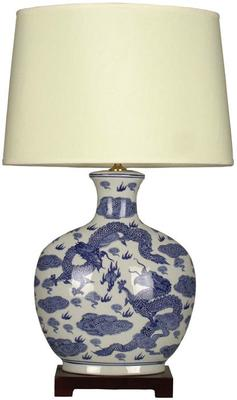 Blue and White Dragon Lamp