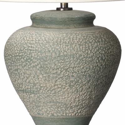 Small Green Textured Lamp image 2