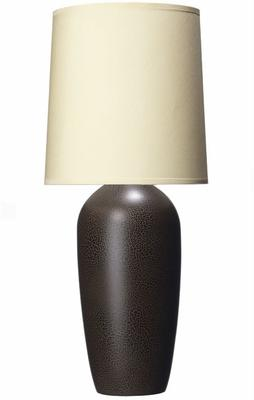 Small Crackled Bottle Lamp - Brown