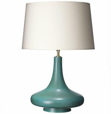 Crackled Aqua Teardrop Lamp