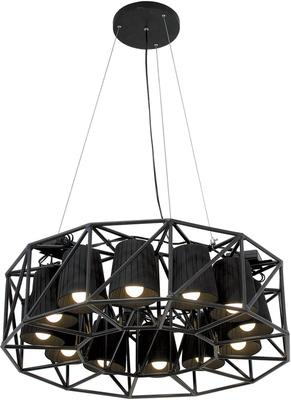 Seletti Circular Lamp Array with 12 Black Cones