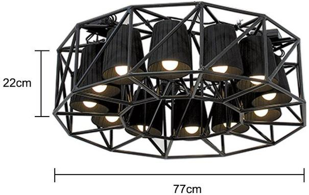 Circular Lamp Array with 12 Black Cones image 2