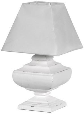 Squat Table Lamp with Pyramid Shade