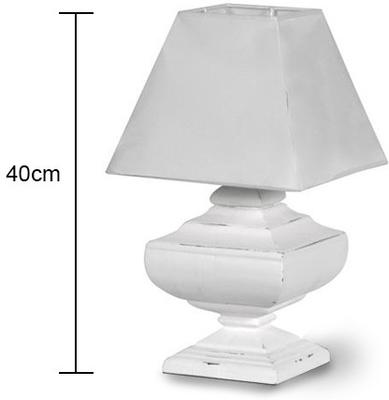 Squat Table Lamp with Pyramid Shade image 2