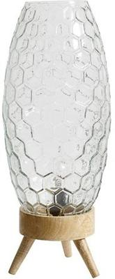 Hexagonal Pattern Glass Table Lamp image 2