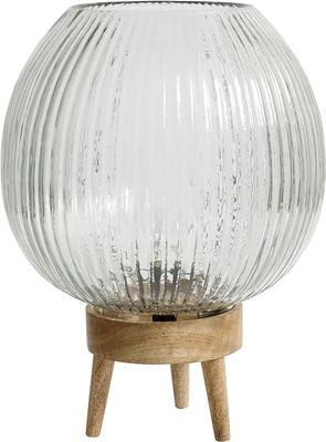 Groove Pattern Glass Table Lamp