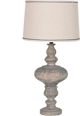 Bulbous Carved Table Lamp