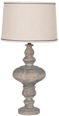Bulbous Carved Table Lamp image 2