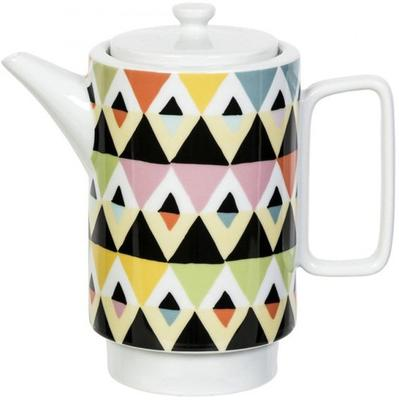 Viva Geometric Design Tea Pot