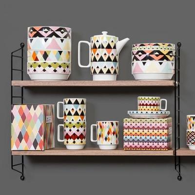 Viva Geometric Design Tea Pot image 2