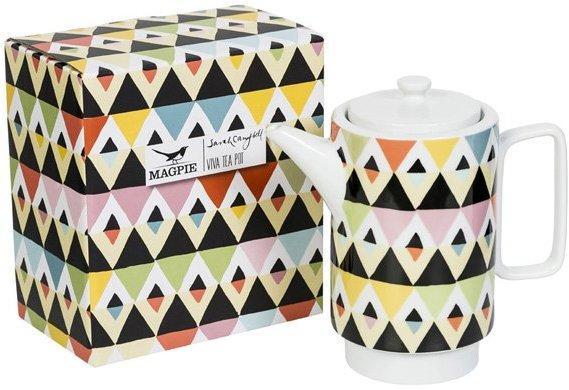 Viva Geometric Design Tea Pot image 3