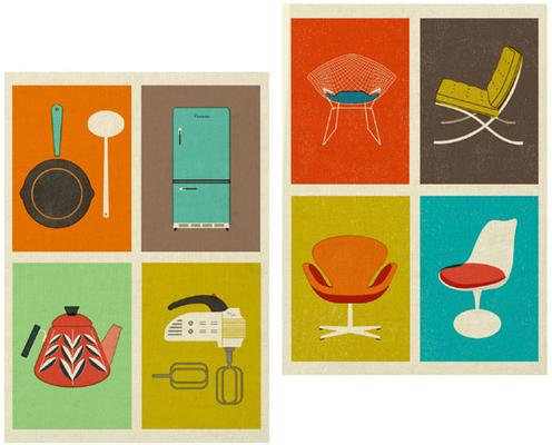 The Modern Home Retro Tea Towels - Set of 2
