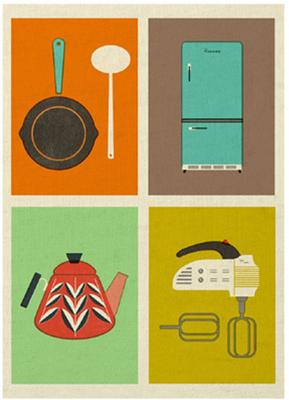 The Modern Home Retro Tea Towels - Set of 2 image 2