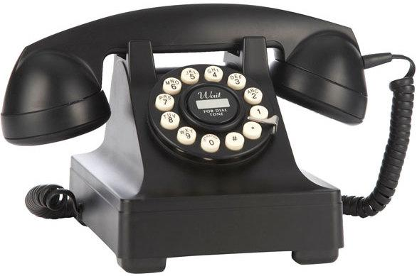 Wild and Wolf 302 Desk Phone (Black) image 2
