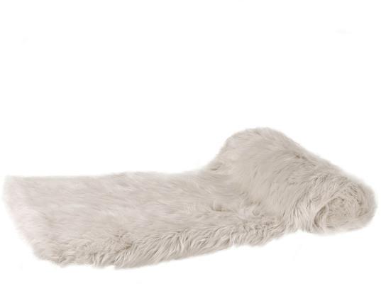 Thick Cream Faux Fur Throw