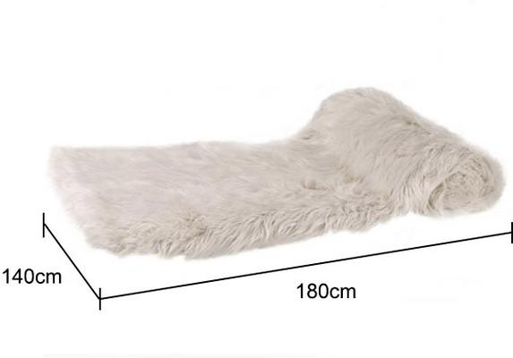 Thick Cream Faux Fur Throw image 2