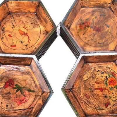 Painted Wooden Tray image 2