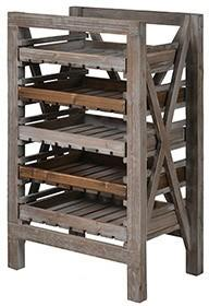 Distressed Wood Fruit Rack image 2