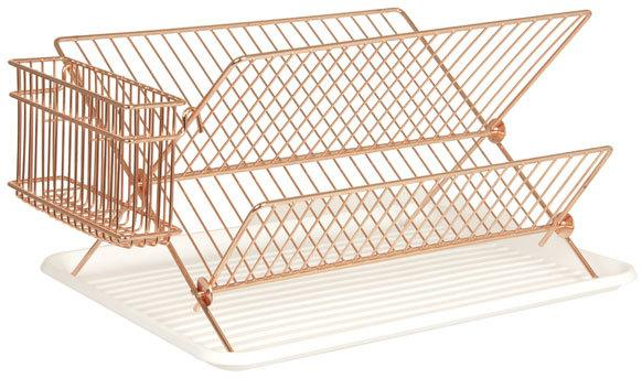 Present Time Copper Wire Dish Rack