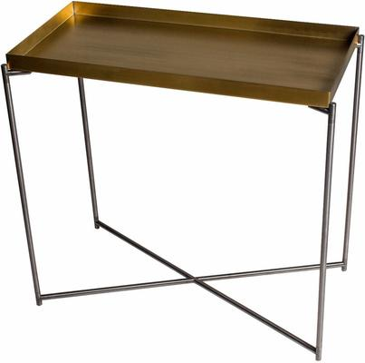 Iris Console Table Small with Brass Tray Top image 2