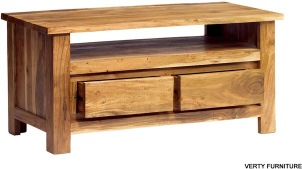 Acacia Solid Wood Plasma TV Unit