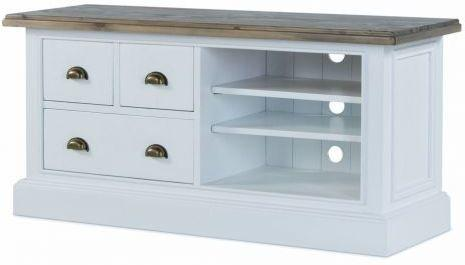 French Country TV Unit - Three Drawers