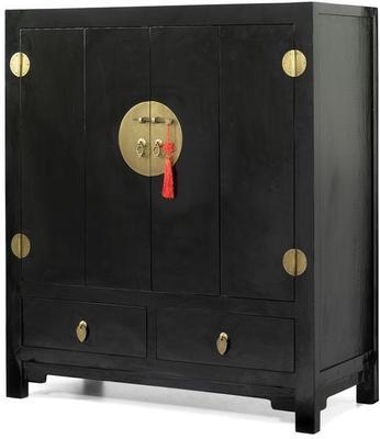 Television Cabinet, Black Lacquer