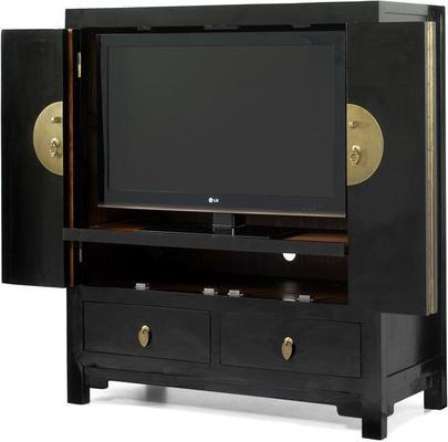 Television Cabinet, Black Lacquer image 3