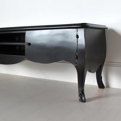 French Black Media Unit with Curved Sides image 4