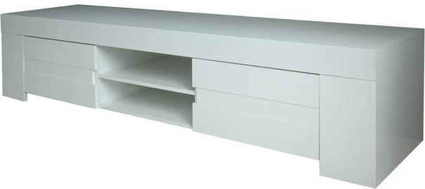 Fano Long TV Unit - Gloss White Finish image 2