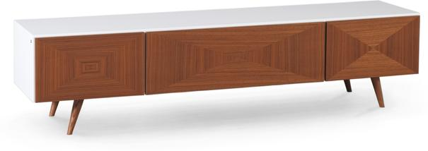 City 2 drawer 1 door TV bench image 2
