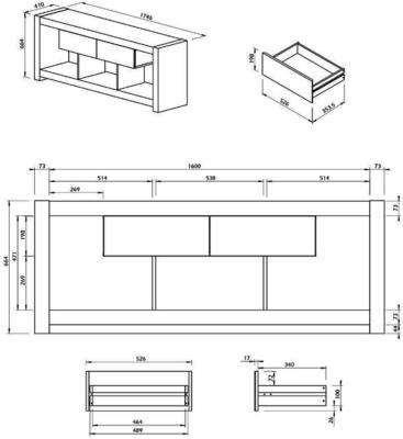 TemaHome Nara Modern TV Table Stand - Concrete and Matt Black image 8
