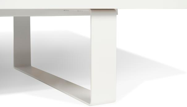 TemaHome Slide Retro TV Table - Matt White and Walnut image 7