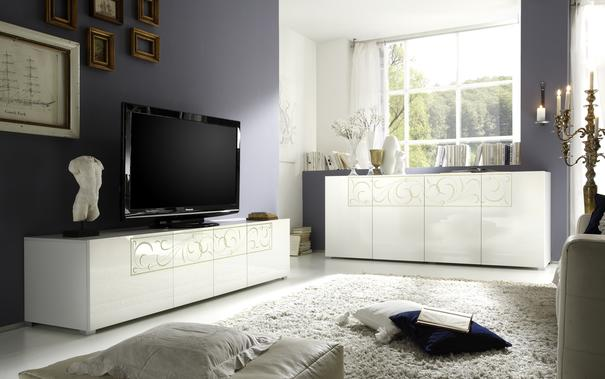 Padua TV Stand - White High Gloss Lacquer  image 2
