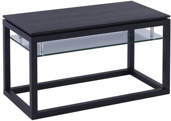 Cordoba Small TV Unit with Glass Shelf - Black Wenge