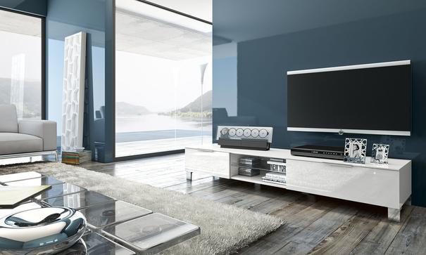 Solia Medium White Gloss TV Unit