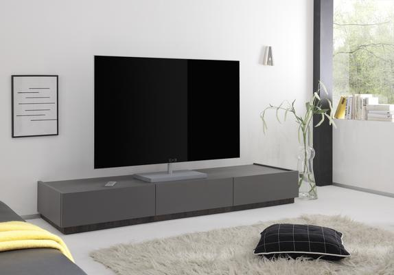 REX Low Three Drawer TV Unit - Matt Grey