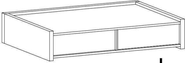 REX High Two Drawer TV Stand - Matt White Lacquer image 3