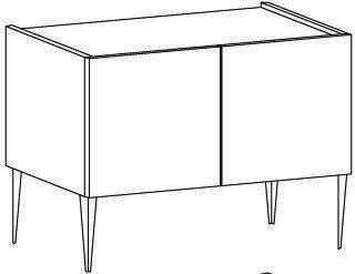 REX Long High Three Drawer TV Stand - Matt White Lacquer image 3