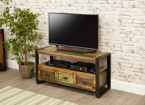Shoreditch Rustic TV Cabinet Reclaimed Wood