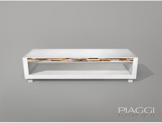 Cinema TV Bench White Oak image 3