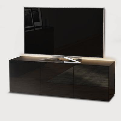 High Gloss Black TV Cabinet 150cm with Wireless Phone Charger