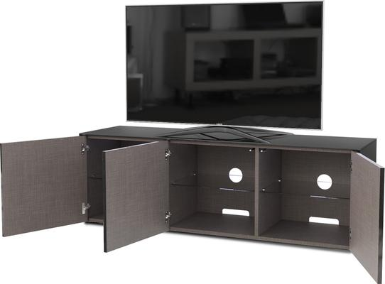 High Gloss Black TV Cabinet 150cm with Wireless Phone Charger image 5