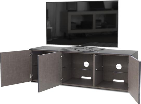 High Gloss Grey TV Cabinet 150cm with Wireless Phone Charger image 5