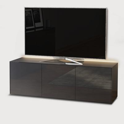 High Gloss Grey TV Cabinet 150cm with Wireless Phone Charger